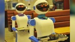 Robots runnen restaurant (video)