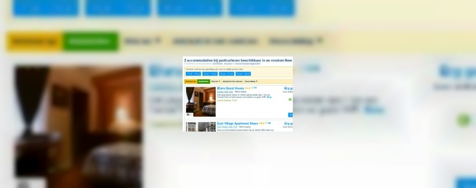 Booking.com biedt particuliere accommodaties<